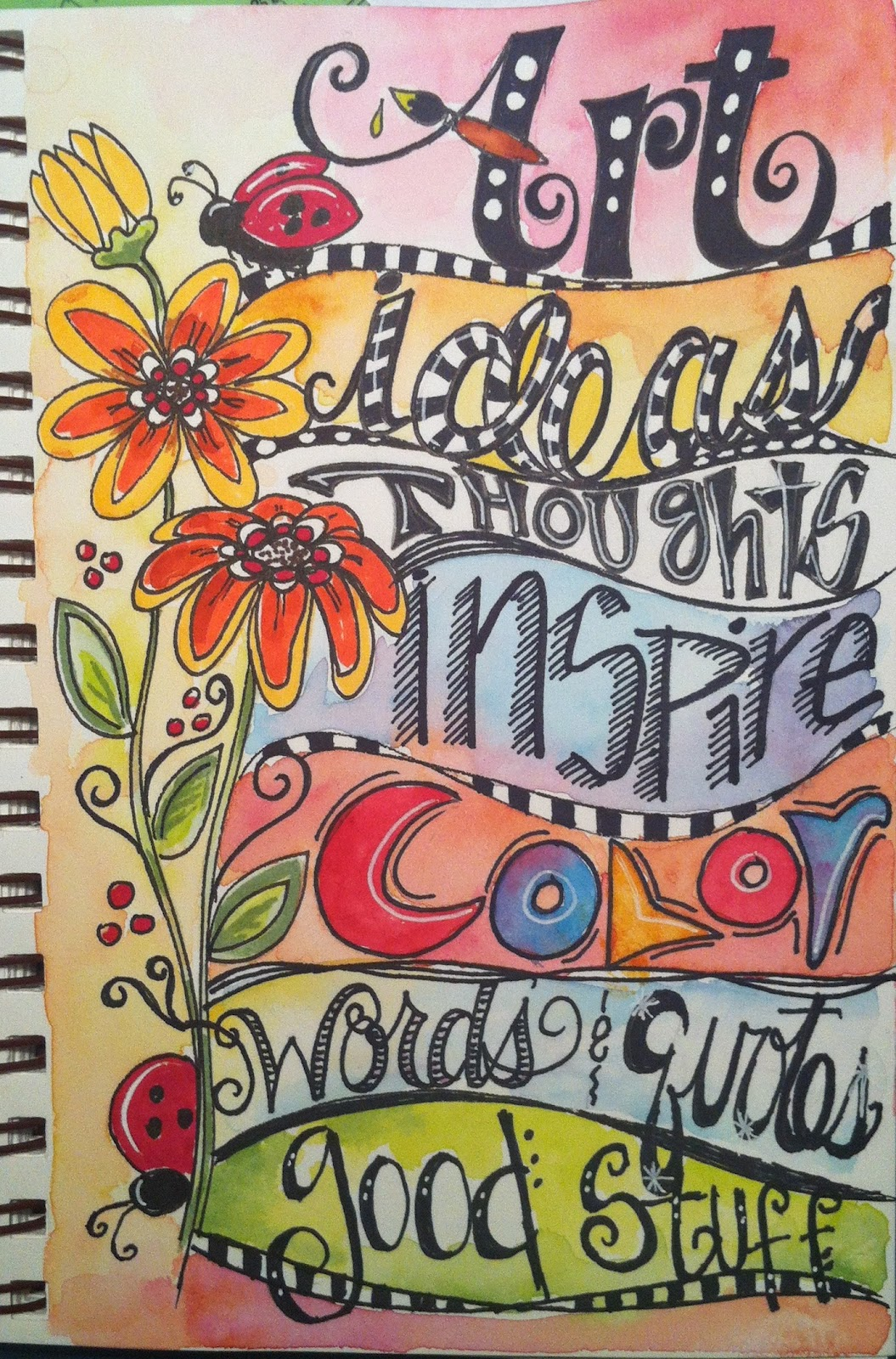 Art Book Front Cover : The clothesline more lettering fun