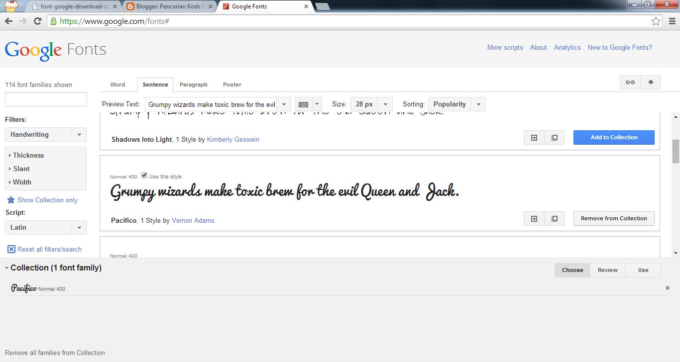Menampilkan Google Fonts di Halaman Web Secara Offline, Download Font Save Lokal Server Maupun Secara Online Link ke Google