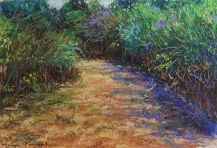 Coorg ( Madikeri ) landscape painting in soft pastels by Manju Panchal