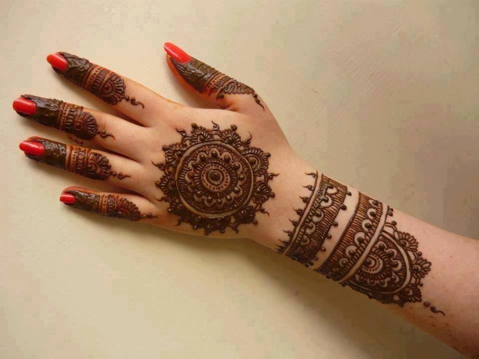 Mehndi Designs Easy : Beautiful latest simple arabic pakistani indian bridal