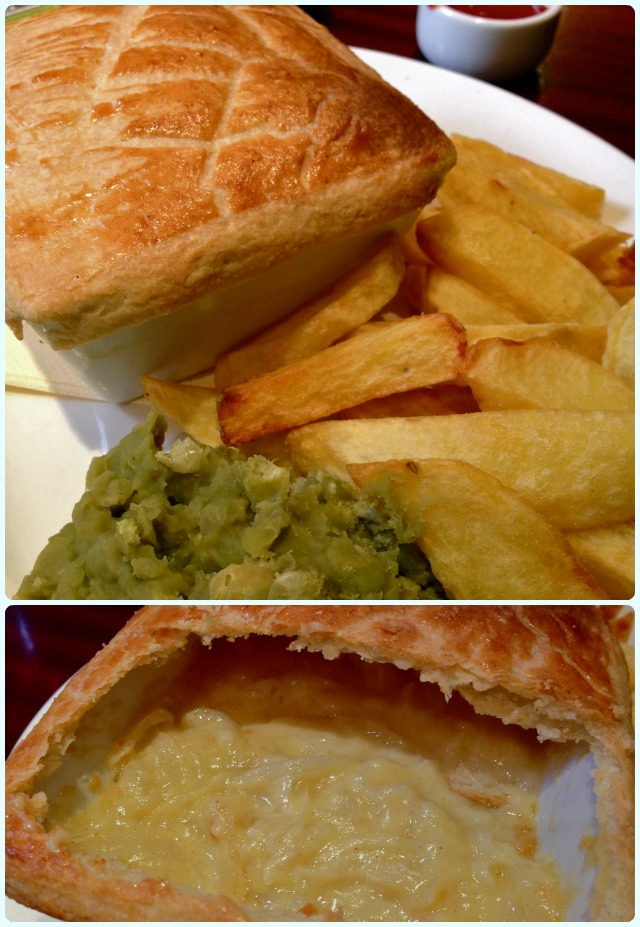 The Brewhouse, Bolton - cheese and onion pie