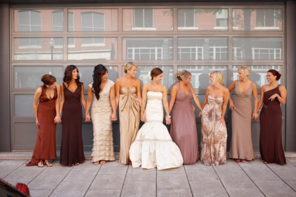 Usually Dresses Are Made Of The Same Color And Material Is Models But Lately Every Wedding Diffe Somewhere