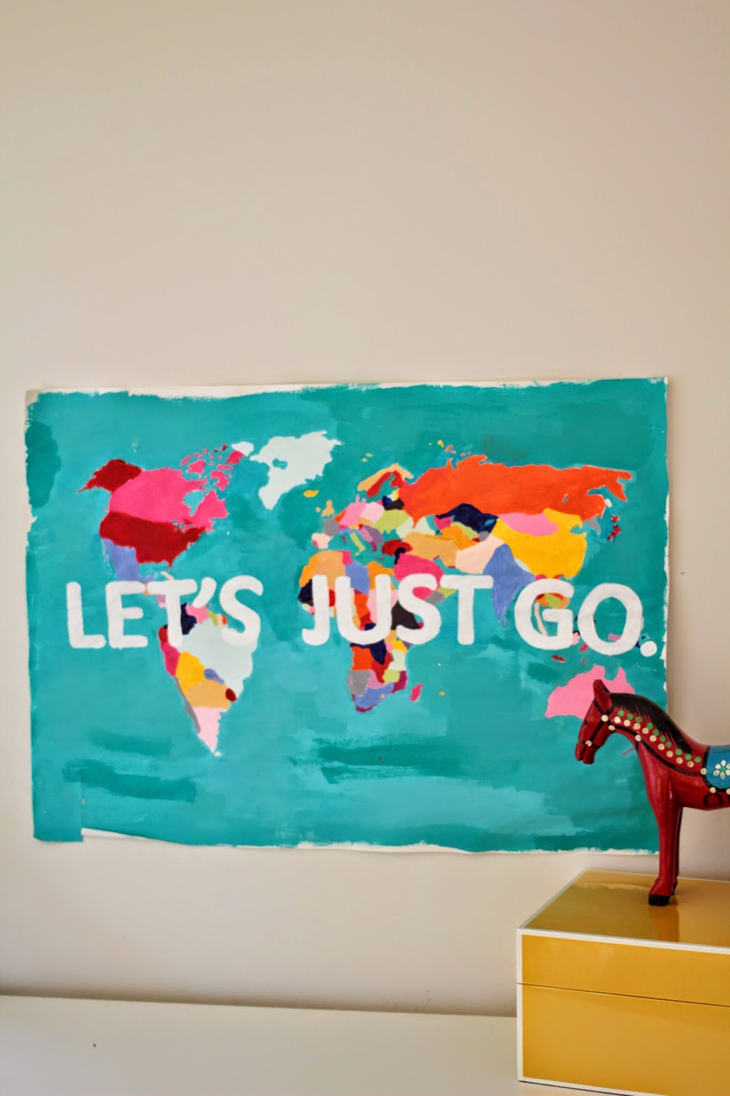diy wall art, diy room decor, wall art tutorial, diy tutorial, diy world map,