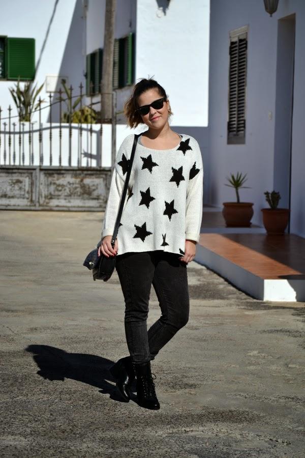 look_outfit_blanco_negro_jersey_estrellas_nudelolablog_06