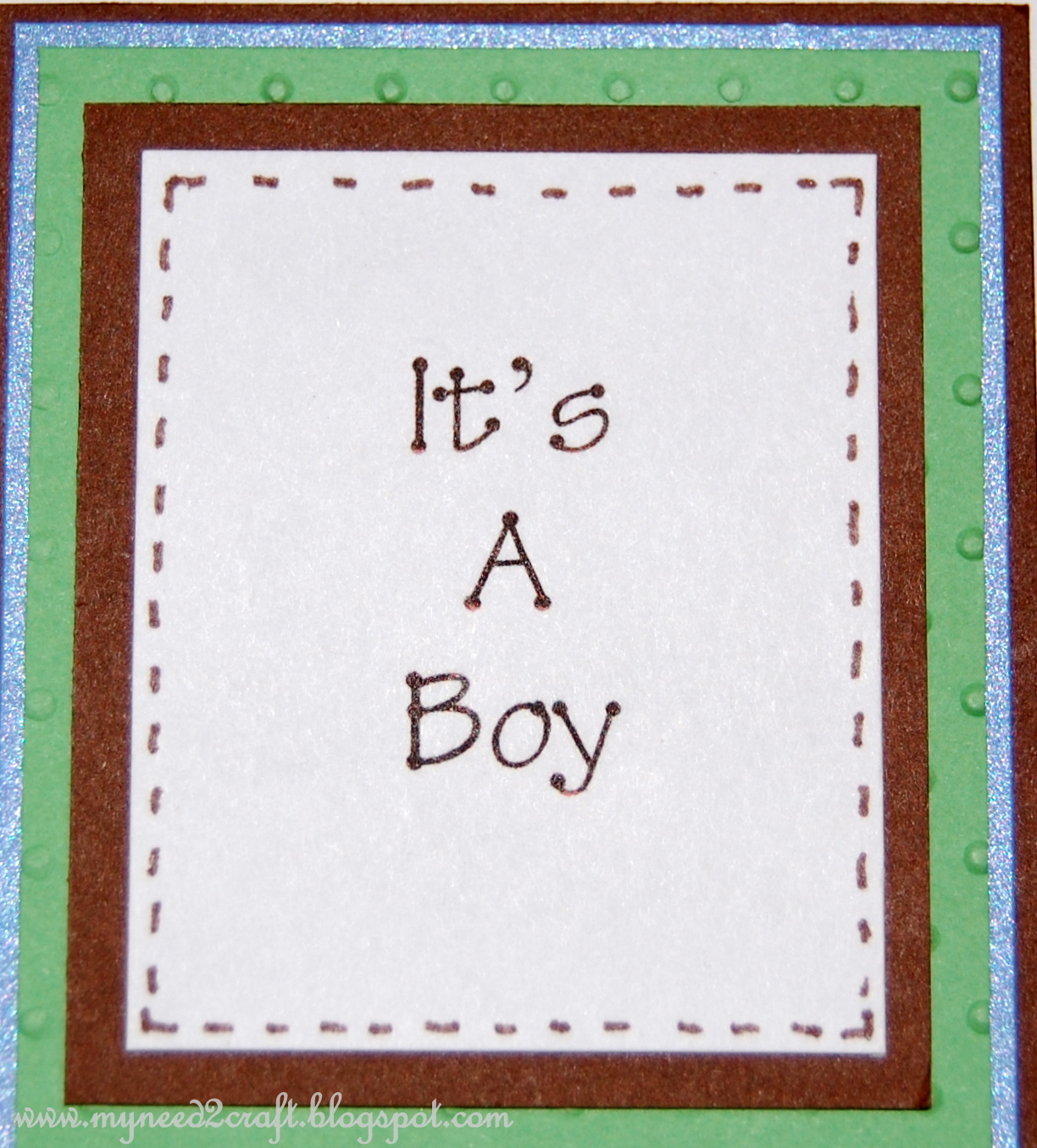 myneed2craft baby shower card