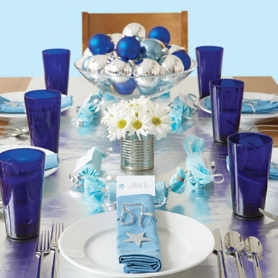 Recycled or Found Hanukkah Table by Porter House Designs