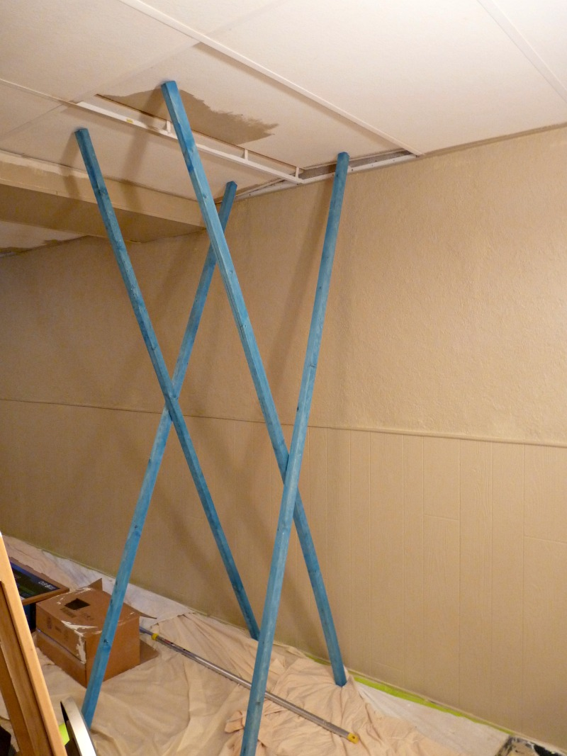 Basement update how to paint drop ceilings you cannot remove how to paint drop ceilings dailygadgetfo Choice Image