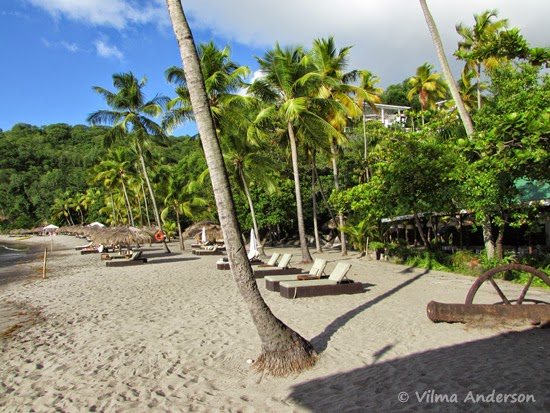 Beach at Anse Chastanet, Saint Lucia