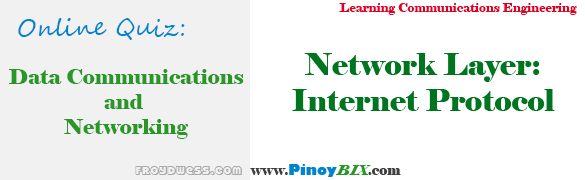 Practice Quiz in Network Layer: Internet Protocol