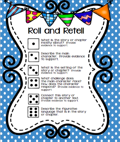 Worksheet Wednesday! Read, Roll and Retell Freebie - Coffee Cups and ...