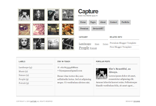 Capture Personal Photo Gallery Blogger Template