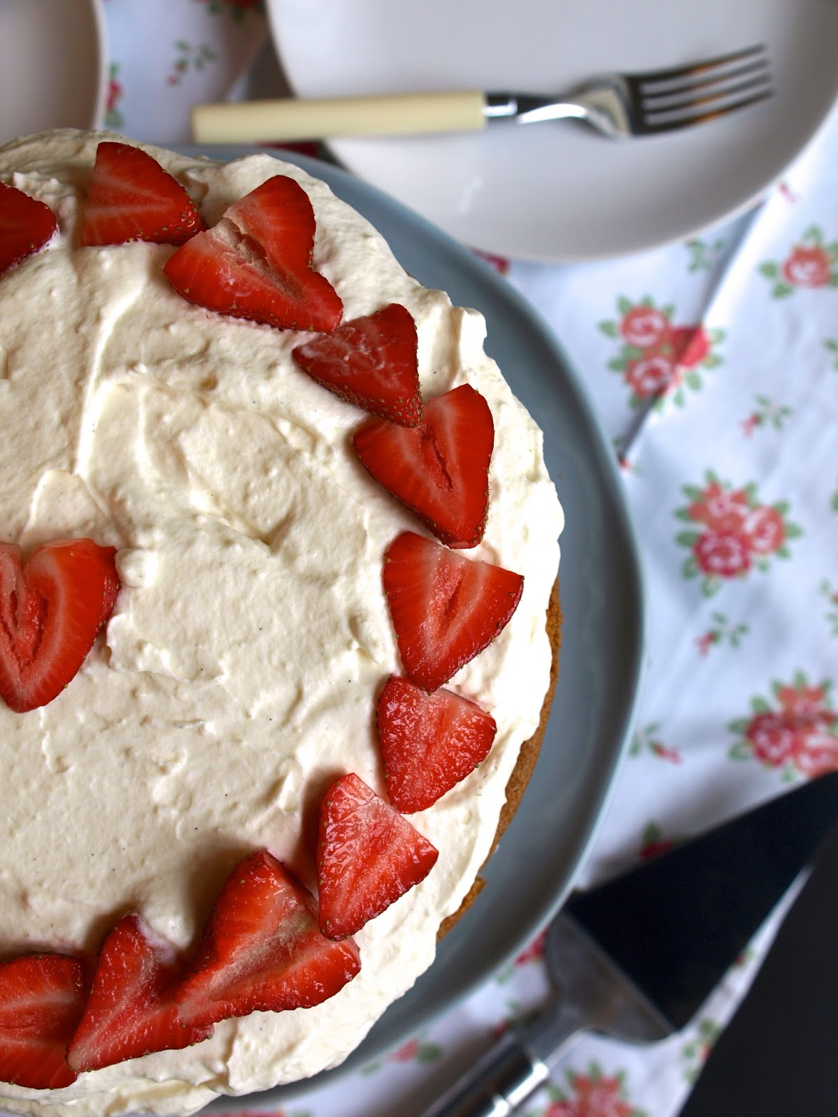 Strawberries & Cream Buttermilk Cake - Flick of the Whisk