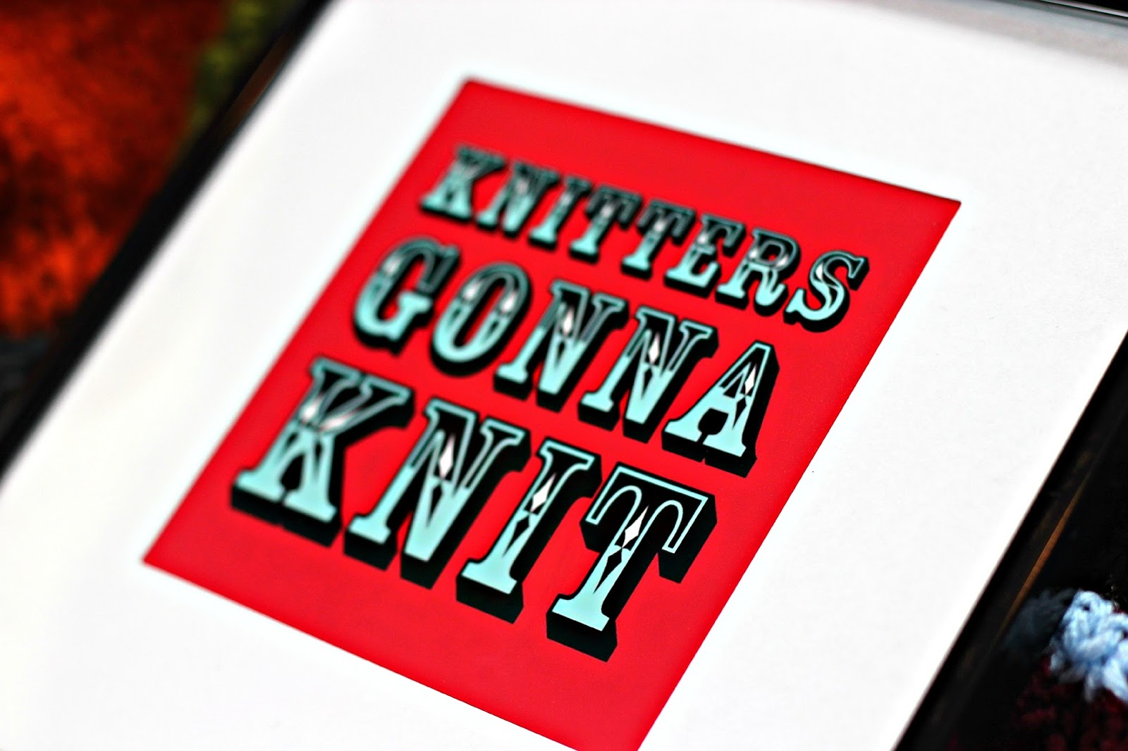 cobberson knitters gonna knit red print
