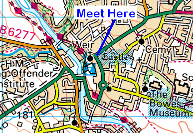 Map of the Barnard Castle area