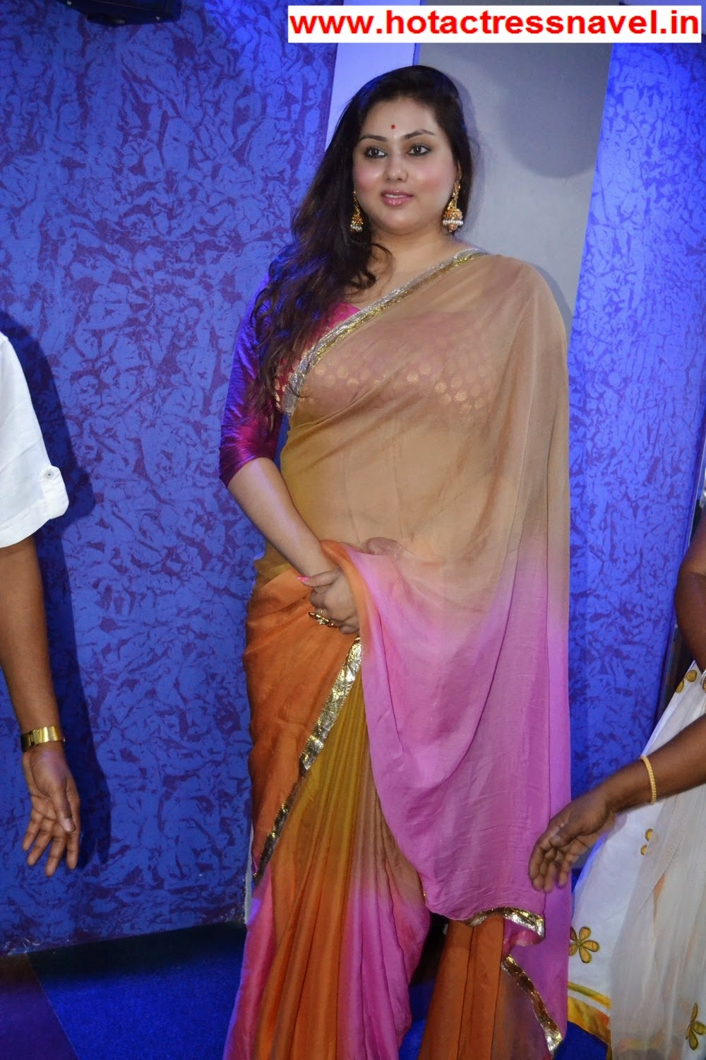 Namitha Hot Bare Back And Navel In Womens Fitness Centre Launch