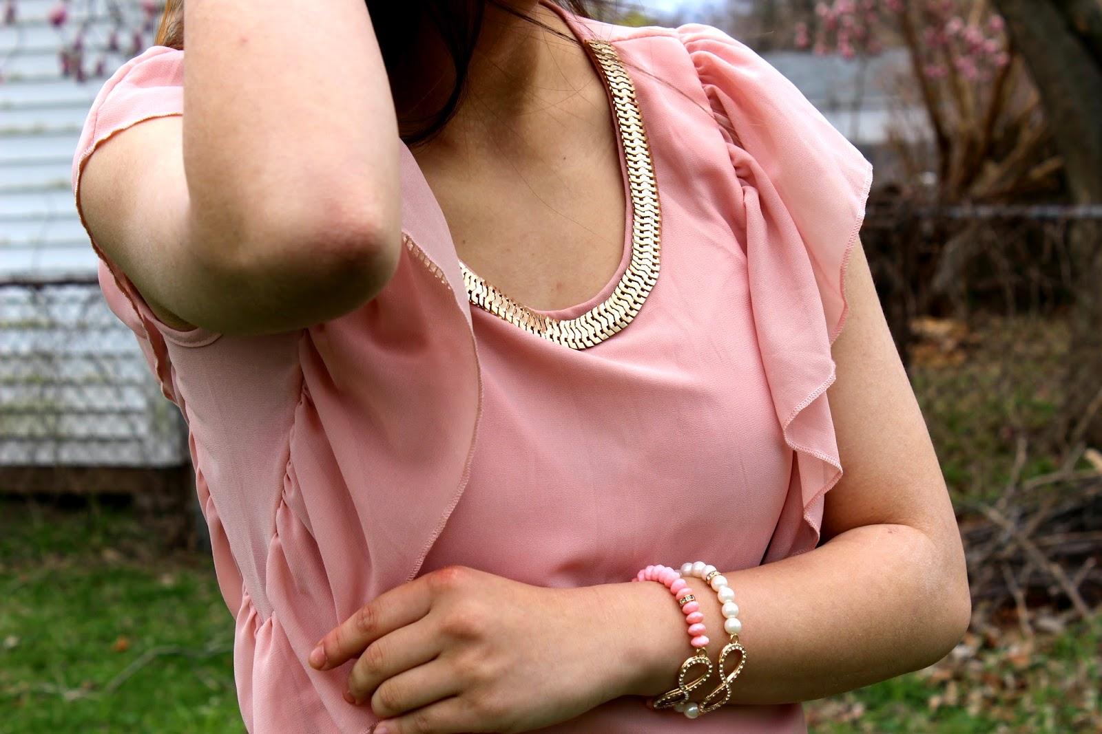 Tb Dress Review Casual Falbala Pleated Short Sleeves T-Shirt
