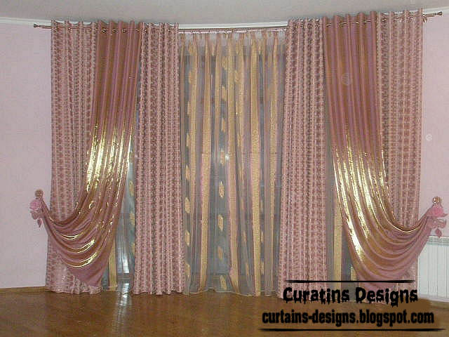 Stylish curtain design, shiny curtain fabric ideas for living room ...