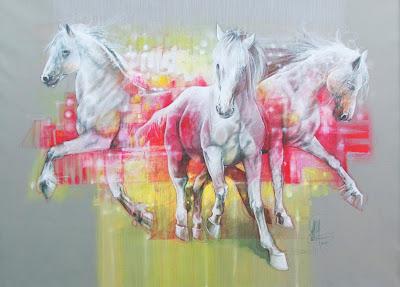 caballos-en-pintura-decorativa-al-oleo
