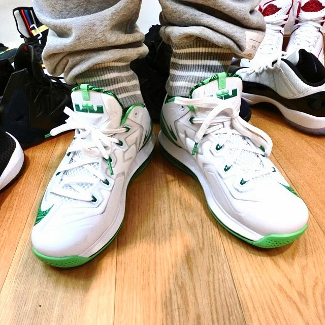 lebron 11 low green and white - photo #28