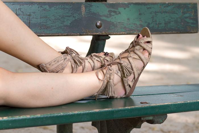 Sandalias gladiadoras de Zara