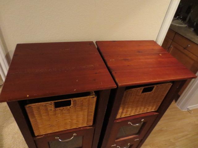 2013 moving sale eden prairie wood shelves with wicker. Black Bedroom Furniture Sets. Home Design Ideas