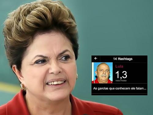 Dilma avalia Lula no Lulu com nota 1,3 e causa confusão
