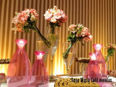decoração, mesa doce, vaso vidro, arranjo floral