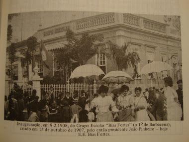 FOTO DE 09 DE FEVEREIRO DE 1908 GRUPO ESCOLAR BIAS FORTES