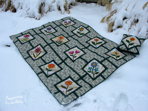 Garden Maze quilt at Freemotion by the River