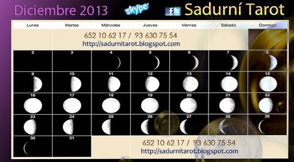 Sadurn tarot calendario lunar diciembre 2013 for Calendario lunar de hoy