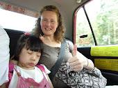 Sleeping in the Hong Kong taxi