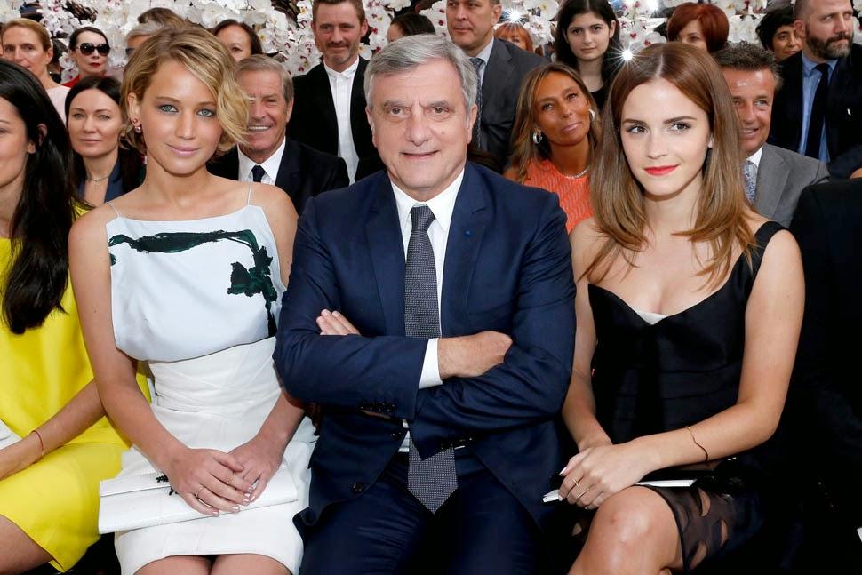 Jennifer Lawrence Dior, Jennifer Lawrence Dior Haute Couture, Emma Watson Dior Haute Couture, Emma Watson Front Row Dior