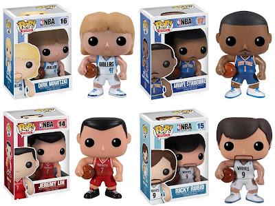 NBA Pop! Sports Series 2 Vinyl Figures by Funko - Dirk Nowitzki, Amar'e Stoudemire, Jeremy Lin & Ricky Rubio
