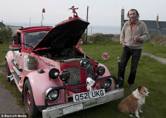 Womble Truck - Bio Diesel Frankenstein Art Car - Lives on French Fry Oil
