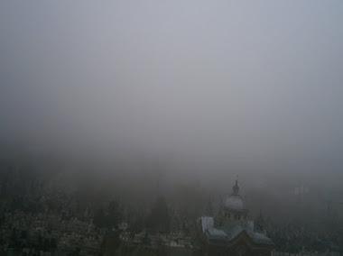 morning winter mist