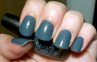 Nails painted with OPI nail polish called I Have A Herring Problem