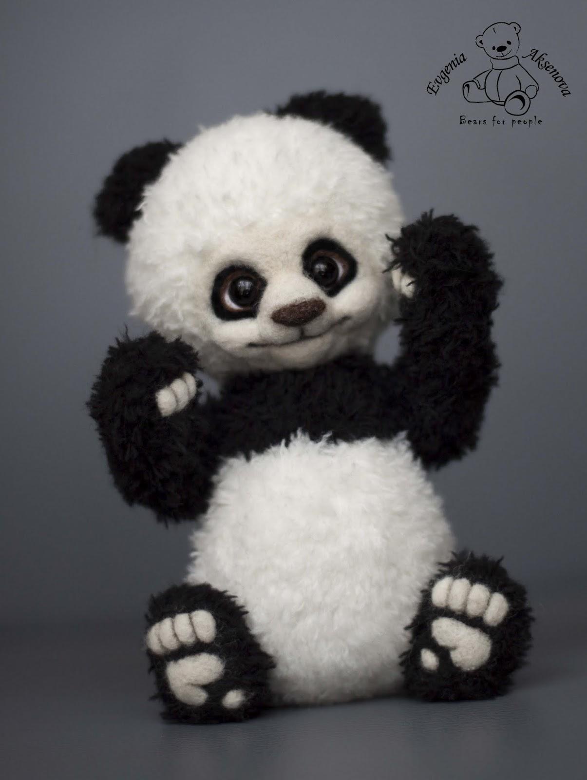 Как связать панду крючком игрушка