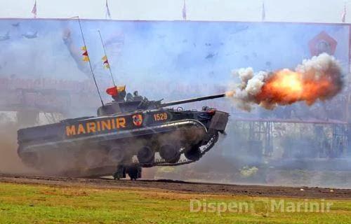 Tank BMP-3F Korps Marinir TNI AL