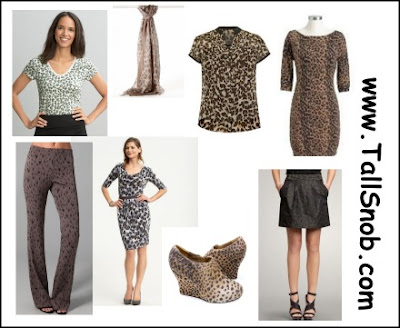 womens tall animal print clothing