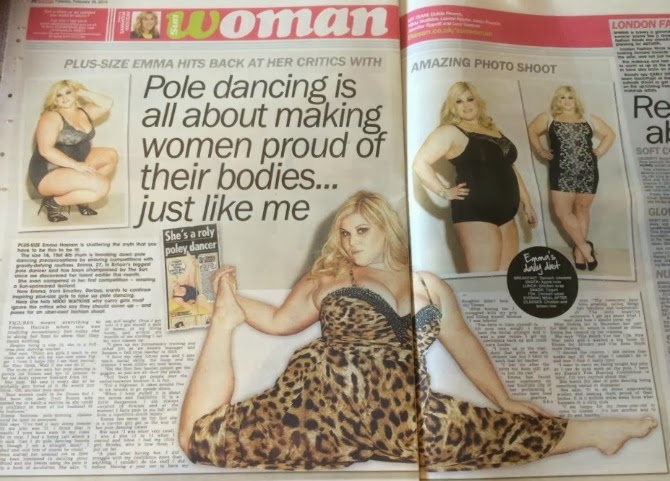 emma haslam pole dancer plus size inglese