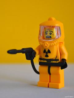 lego hazmat guy has to clean up the results