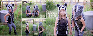Handmade Crochet Raccoon Animal Hat for boys and girls of all ages