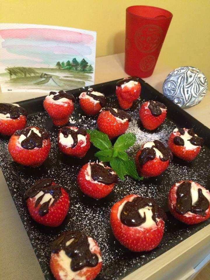 Recette des fraises romantiques