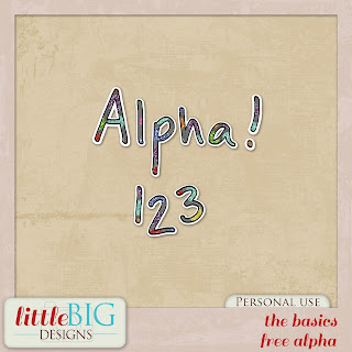 Free scrapbook alpha from Little Big Designs
