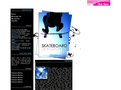 Layout Myspace Ideas for Skateboarding