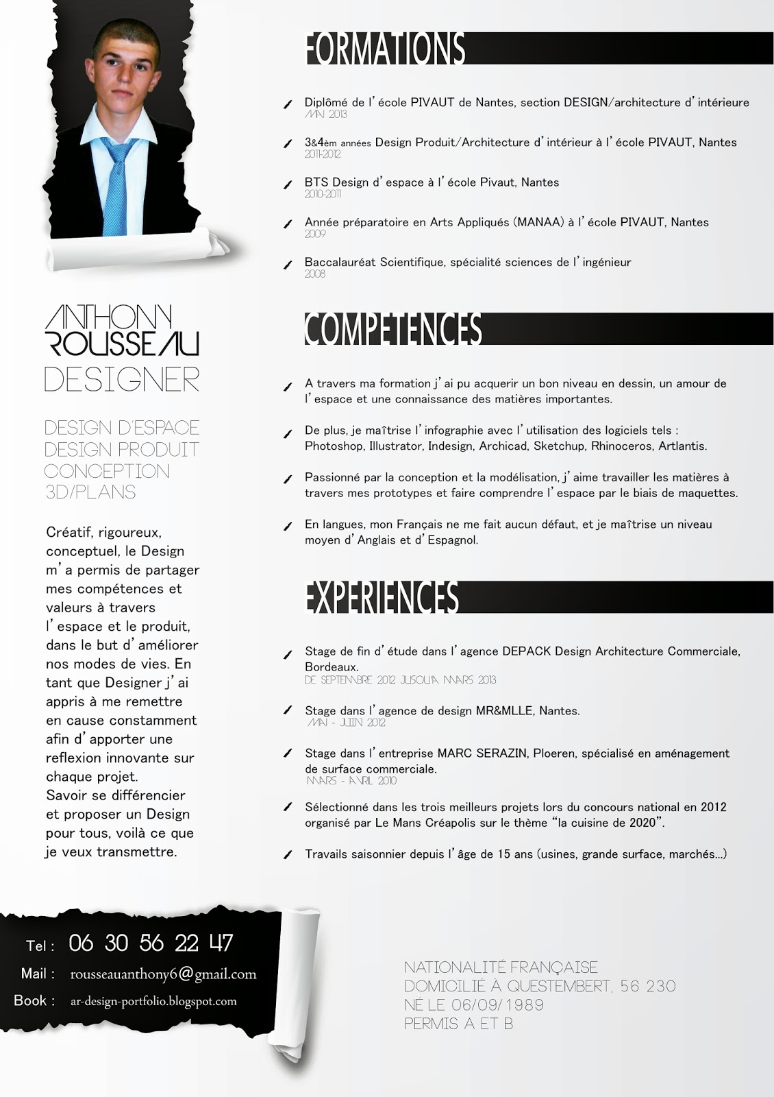 book      anthony rousseau  cv