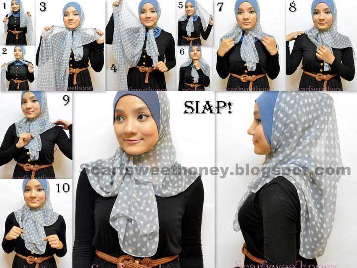 ada tutorial cara memakai jilbab modern cara memakai jilbab modern