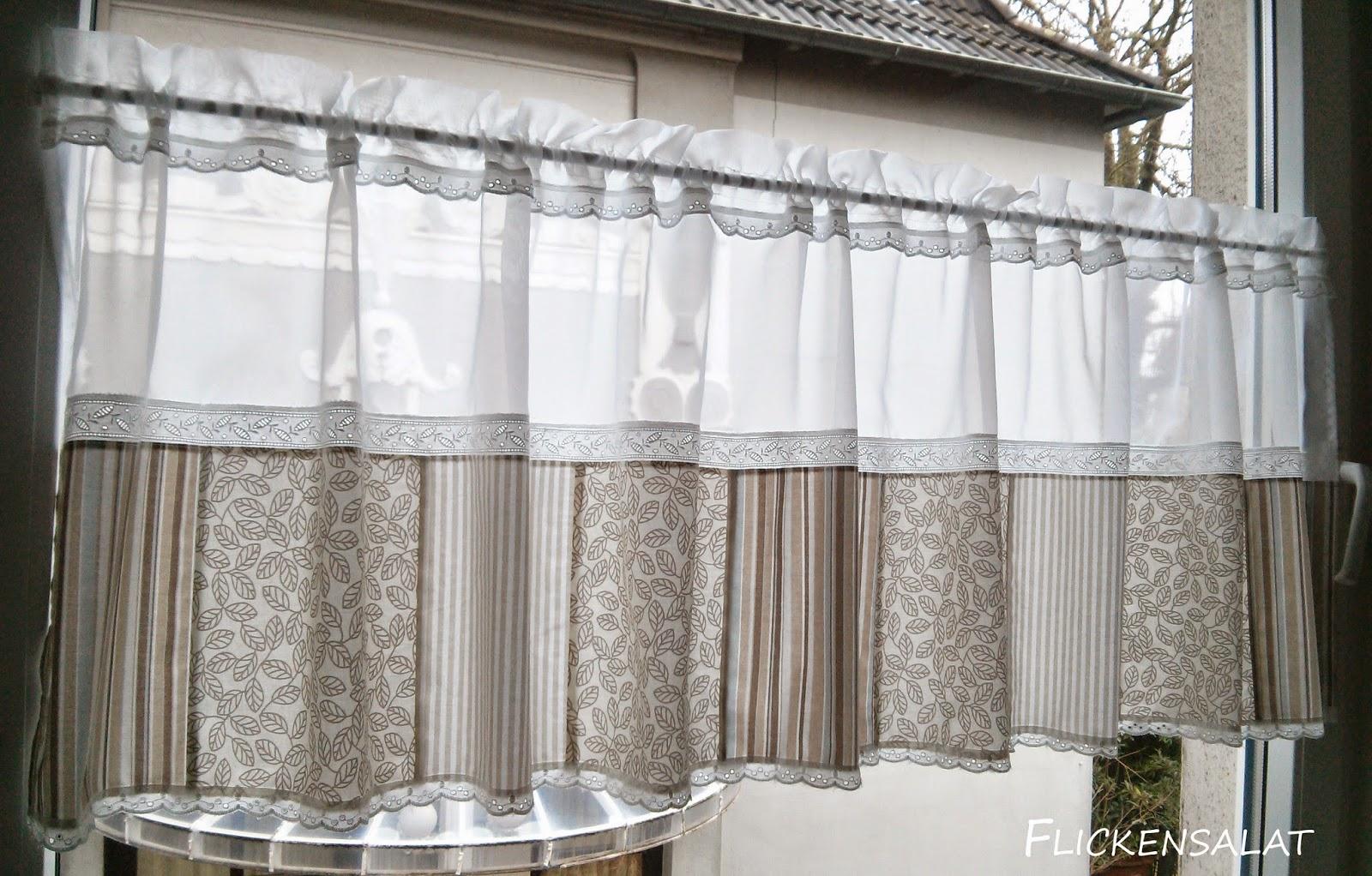 flickensalat ein neue gardine und schon wieder ein neuer monat. Black Bedroom Furniture Sets. Home Design Ideas