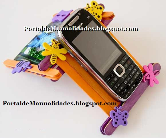 Popsicle Stick Cell Phone Holder