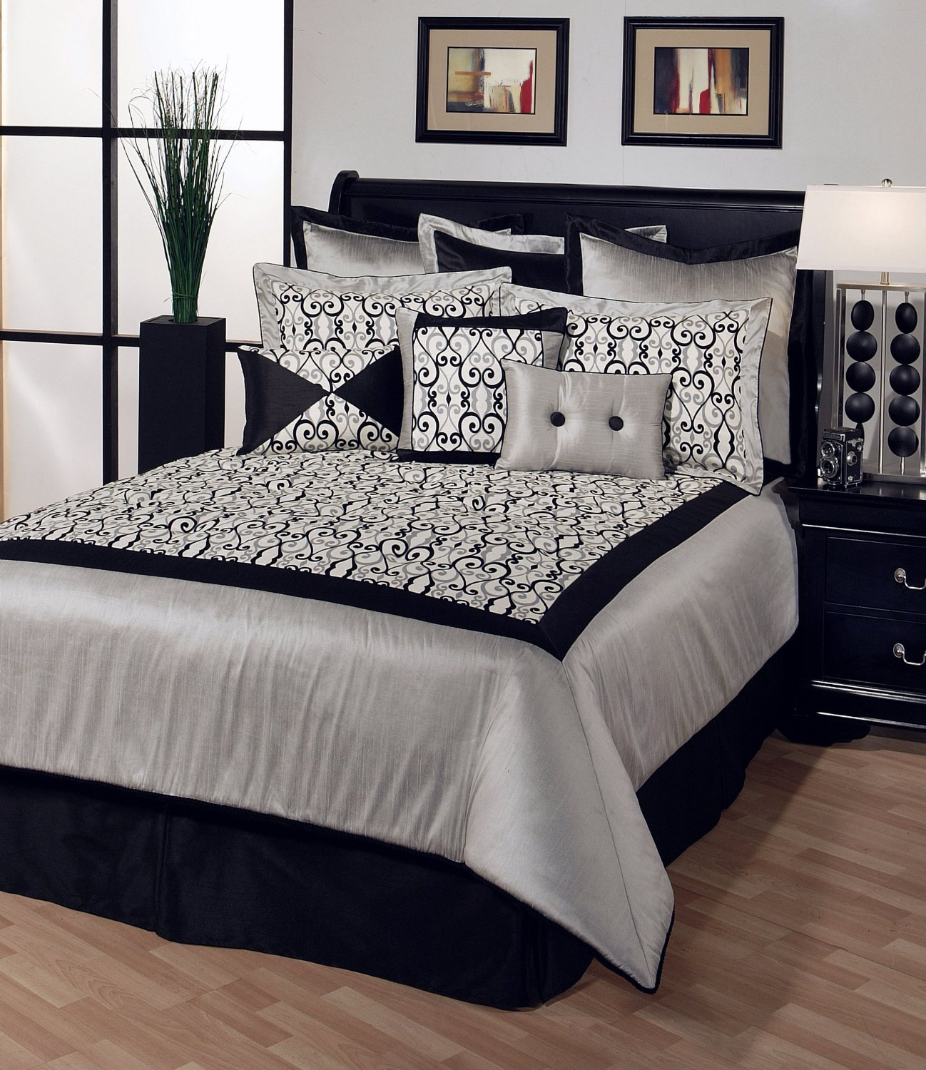 Bricolage e decora o decorar um quarto de casal em preto for Black white and gray bedroom ideas